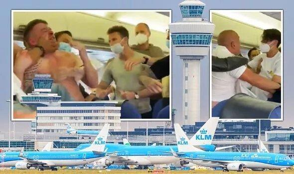 دعوا بر سر نزدن ماسک در هواپیما